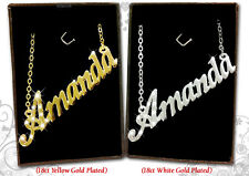 NAME NECKLACE 18k Gold Plated Mum Aimee Aisha Alexandra Alice Amanda