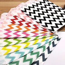 50 Chevron Paper Lolly Candy Buffet Bags Wedding Party Pink Blue Red Black Mix