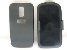 Hard Rubberized Protective Cover W/ Holster Combo for Huawei Speed U8667