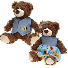 """Dog Toy Flutter Bugs Bears Soft Curly Plush Big Dogs Puppies Squeaker 12"""""""