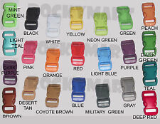"3/8"" Side Release Buckle Clasp Paracord Bracelet 1, 5, 10, 15, 20, 50, 100 Packs"