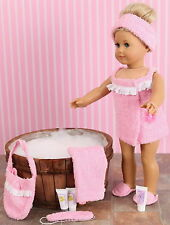 NEW DESIGN ! FRILLY LILY SPA SETS FOR 14-18 INCH DOLLS