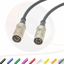 7 Pin A 5 PIN DIN MIDI CABLE. TASTIERA, synthesisers, interruttore a pedale, YAMAHA PIOMBO
