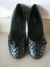 Agape/Rhema Womens Shoes*New*Whole/Half Sizes*Flats with bow*Black*Ships Free