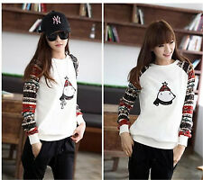 New women's pullover sweater female loose stitching version of the type