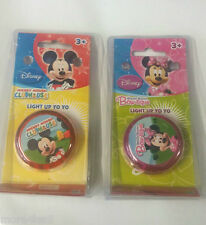 DISNEY MICKEY MOUSE CLUBHOUSE or  MINNIE MOUSE LIGHT UP YOYO TOY  - NEW
