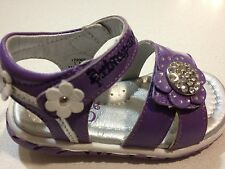 New Girls Toddlers Purple Leather Sandals  Princepard Shoes. Excellent Quality
