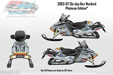 Warbird 03-07 Ski-doo Rev Custom Graphics Sled Wrap Decals for Your Snowmobile