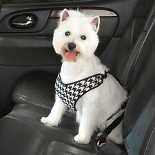 Cruising Campanion Houndstooth Car Harnesses Dog Harness Black - Clearance