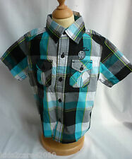 BNWT EX NEXT YOUNGER BOYS CHECKED COTTON CASUAL SHIRT 4 SIZES 3 COLOUR OPTIONS