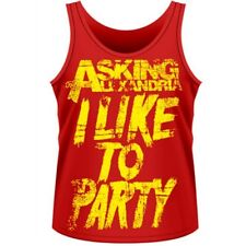 ASKING ALEXANDRIA I Like To Party Red TANK TOP S M L XL Official NEW