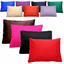 Cotton Drill Cushions Pillow Boudoir Cushion Inner Pad & Covers 18x14in 45x35cm