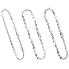 Sterling Silver Puffed Anchor/Mariner Chain Necklace,Bracelet, 2.5mm,3.5mm,4.2mm