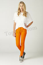 Women's Stretch Pencil Candy Sexy Skinny Pants Jeans Trousers Leggings - Orange
