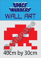 SPACE INVADERS WALL ART CHARACTER LARGE 40CM BY 30CM