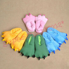 Stuffed plush slippers for animal pajamas Cartoon shoes dinosaur claws shoes new