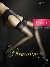 Adora FIORE Stockings 8 denier den with beautiful patterned top obsession.