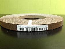 "WENGE WOOD VENEER EDGEBANDING PREGLUED SIZE ( 5/8"" to 2"" ) x 250' ROLL"