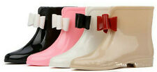 Women Sweat Bowknot Wellington Ankle Boots Flat Snow Rain Shoes 5 Colors