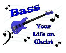Custom Made T Shirt Bass Your Life On Christ Guitar Music Notes Cleff Christian