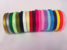Sheer Organza Ribbon - 50 yards - many colours - 6mm & 10mm