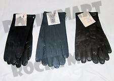 Czech Leather Gloves - Lined with Cotton - Winter (NEW) Blue Brown Black RM1271