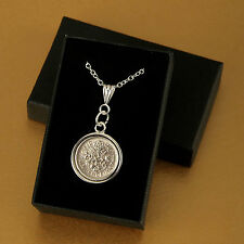 Lucky Sixpence Necklace 1910 - 1919 in gift box