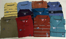 NEW ST. JOHN'S BAY LONG SLEEVE SUEDED POLO SHIRT SIZES XLT 3XL & 3XLT