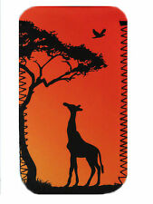 Giraffe sunset  Mobile PHONE CASE POUCH FITS HTC THE ONE,ONE X ,ONE MINI, ONE V