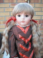 DOLLS WIG ADELE  BUNCHES WITH FRINGE CHOICE OF  2 COLOURS AND SIZES