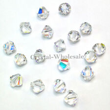 8mm Crystal AB (001 AB) Genuine Swarovski crystal 5328 / 5301 Loose Bicone Beads
