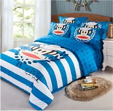 New Paul Frank Bedding Set Bed Sheet Duvet Case Pillowcase Twin Queen King RARE