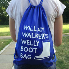 Personalised Welly Boot Drawstring Bag + Your Name - Childrens Wellington Boots