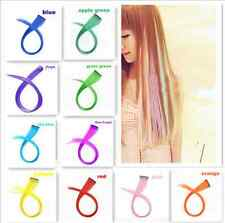 2pcs Straight Synthetic Colored Colorful Party Clip In Hair Extensions Cosplay