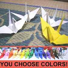 "50x 6in (15cm) ORIGAMI PAPER CRANES. Handmade Japan. Wedding. 6"" Many Colors!"