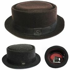new solid color Pork Pie hat wool blend Crushable trilby fedora short brim F1678