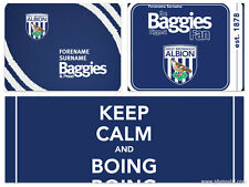 West Bromwich Albion Brom Personalised Computer Mouse Mat Any Name Choose Style