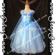 #PF11 Flower Girls/Holiday/Formal/Wedding/Party Gowns Dress, Sky Blue 3-14 Years