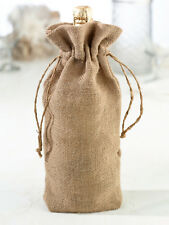 Lillian Rose Personalized or Plain Burlap Wine Bag Wedding Table Decor