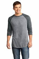 New District Young Men's Microburn 3/4 Sleeve Raglan T-Shirt XS-4XL 3XL DT162