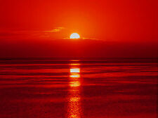 Red Sunset Reflections Canvas Pictures Sea Ocean Wall Artwork Prints All Sizes