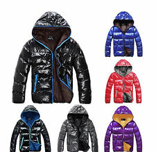 New Multicolor Shiny Hooded Men's Body Warmer Jacket Soft Touch Down Coat DN001