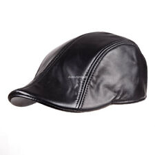 Men's(Unisex)New Real Leather Beret / Newsboy Hat / Golf Hat
