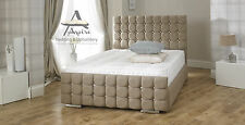 Crystal Fabric Upholstered Storage Bed Frame 4'6 DOUBLE 5FT KINGSIZE