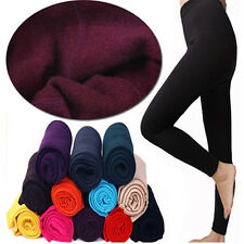 NEW Comfortable Brushed Stretch Fleece Lined Thick Warm Leggings Jeggings Women