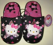Girl's Pink / Black Hello Kitty House Shoes / Slippers - XS (11/12) & S (13/1)