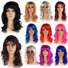 Women's Sexy Long Curly Wigs Ladies Fancy Dress Full Wig Cosplay Costume Party