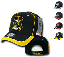 Piped Military Air Force Army Marines Navy USA Flag Baseball Hats Hat Cap Caps