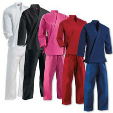 KANKU new Karate Uniforms for Adult and Kids, gi black, white, blue, red, pink