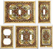 TUSCAN TILE IMAGE KITCHEN DECOR BROWN TONES LIGHT SWITCH OR OUTLET COVER V437